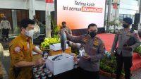 Polres Jakarta Pusat Serahkan Bantuan